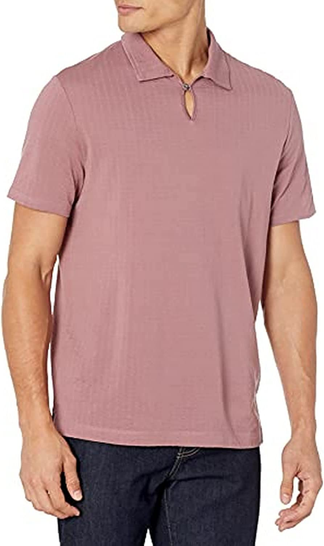 Perry Ellis Men's Standard Open Collar Short Sleeve Polo Shirt