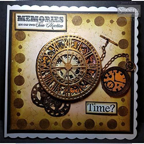 TaxpyBath Mats Taschenuhr Sanduhr Metallschneidwerkzeuge für DIY Scrapbooking Papierkarten Herstellung von dekorativen Bastelbedarf 2019 Neue Stanzungen