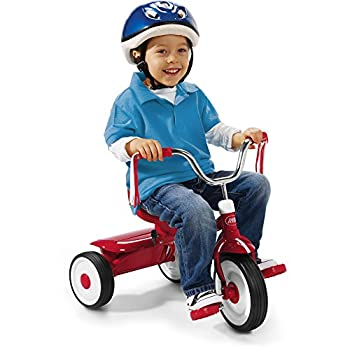Radio Flyer Ready-To-Ride Folding Tricycle Red / Controlled turning radius