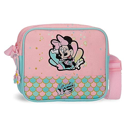 Disney Minnie Mermaid Bandolera Rosa 18x15x5 cms Poliéster