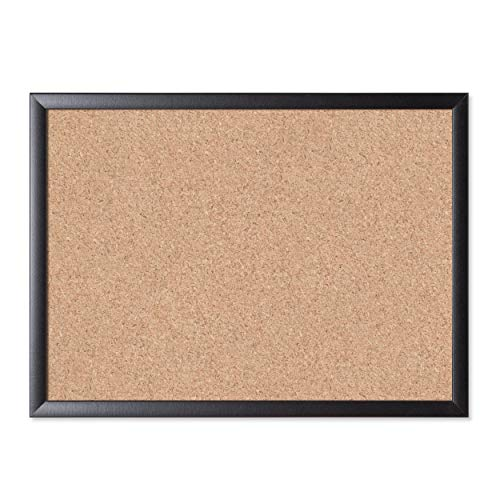 "Cork Bulletin Board, 23"" x 17"", Black Wood Frame () - U Brands 026U00-01"