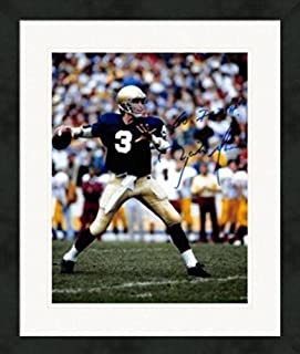 Signed Rick Mirer Photo - 8x10 Notre Dame Fighting Irish 1982 Sugar Bowl Champion Image #SC1 Matted & Framed