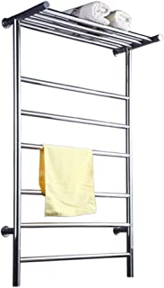 Noble and Versatile Heated Towel Rail, 600 993 MM Intelligent Towel Rack Radiator with Concealed Switch, for Bathroom Cloakroom Hotel or Office