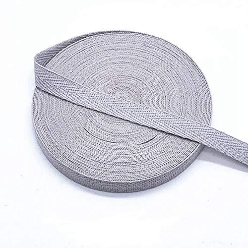 MoonyLI DIY Baumwollgewebe köperband 10mm Twill Tape Ribbon Fischgrätenband Twill Twill Cotton Tape Bias Twill Schürze Nähband 45 Yard köperband