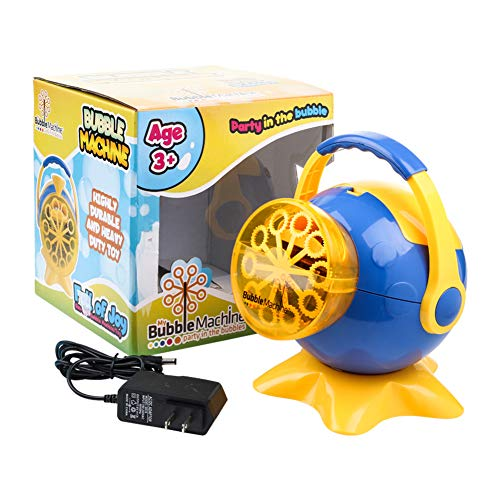 Bubble Machine for Kids, Automatic High Output Bubbles Blower 1000 Bubble per Minute, Portable Bubble Maker for Birthday Party Fun Indoor Outdoor Use