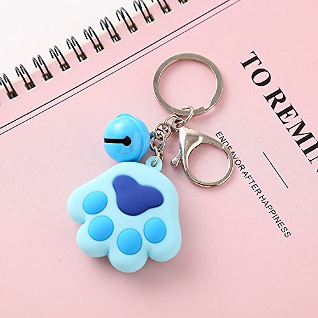 Dalino Babys Toys Cute Paw Keychain Cartoon Stereo Soft Car Pendant (Blue)