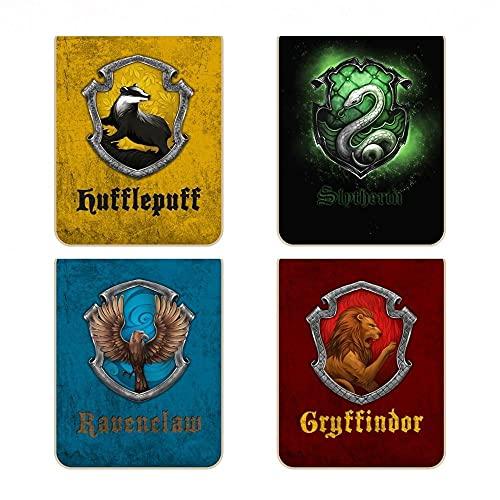 Marcadores de página magnéticos Harry Potter 4 casas (kit com 4 unidades)