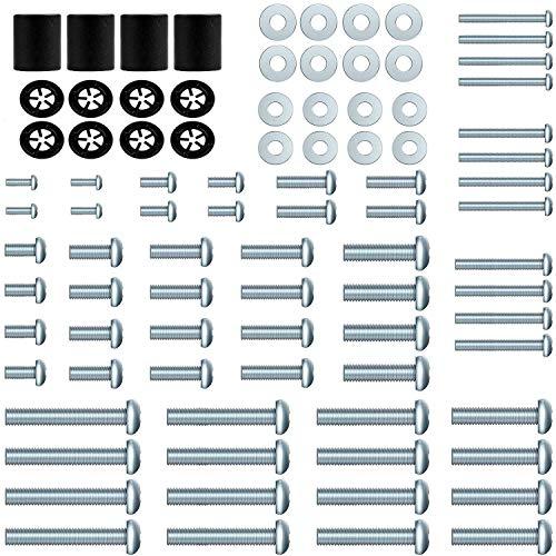 Forging Mount Paquete de accesorios de montaje universal para TV, 88 piezas, se adapta a todos los televisores de hasta 82 pulgadas con tornillos M4, M5, M6 y M8, espaciadores y arandelas.