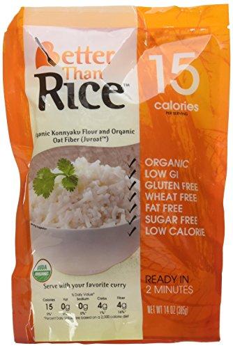 Better Than Organic Konnyaku Konjac Flour Food, 14 ounce (Pack of 6) (Rice)