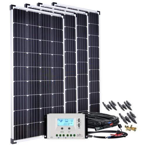 Offgridtec Solaranlage basicPremium-XL 600W 45A LCD Laderegler Profi Kabelkit