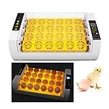 Incubadoras Automáticas para 24 Huevos, IncubadoraAautomática de Huevos con Iluminación LED, Control de Temperatura y Rotación Automática de Huevos, Incubadora para Incubar Gallinas, Patos, Codornices