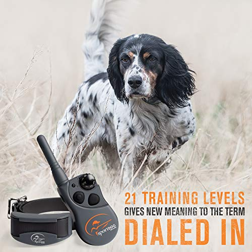 SportDOG Brand 425 Remote Trainers - 500 Yard Range E-Collar with Static, Vibrate and Tone - Waterproof, Rechargeable - Including New X-Series, Black (SD-425X)
