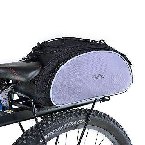 YUYAXBG Modieus Achterfietstas Fietstas Achterstoel Trunk Bag 13l Grote Capaciteit en Duurzaam kan ook worden gebruikt als een casual rugzak