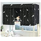 aily tenda oscurante per dormitori studenti zanzariera per letto a castello in tessuto blue star printed a baldacchino termica isolante curtains per camera da letto per bambini,c,1.35x2m(1pack)