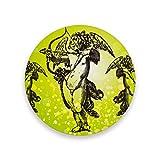 Lupinz Cupid-Untersetzer, isoliert, flexibel, langlebig, rutschfest, feuchtigkeitsabsorbierend, mit Korkboden, Holz, 1, 1 piece set