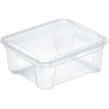 M Home Caja de Almacenaje 2 5.7 l, Translúcido, 35x21x12 cm: Amazon.es: Hogar