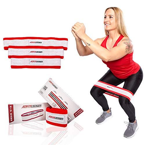 ActiveVikings HIP Band Fitnessbänder | Ideal für Muskelaufbau Physiotherapie Pilates Yoga Gymnastik und Crossfit | Fitnessband Gymnastikband