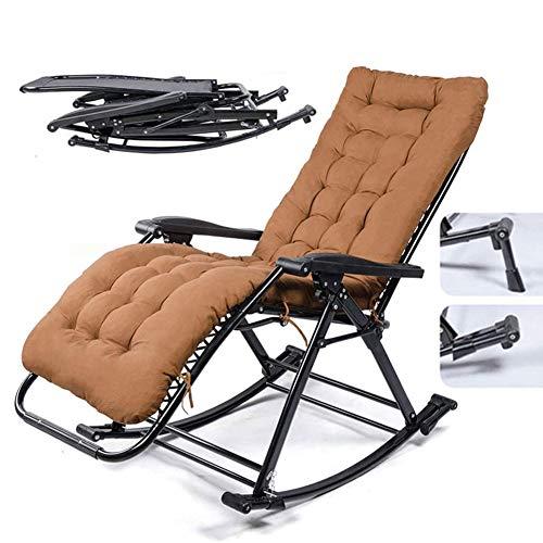 MSHK Strandkorb Campingstuhl Sonnenliege Strandliege Gartenliege Klappliege büro rückenlehne Stuhl klappbare,Braun