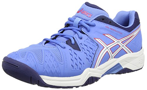 Asics ASICS Unisex-Erwachsene Gel-Resolution 6 Gs Tennisschuhe, Blau (Powder Blue/White/Hibiscus 4701), 37 EU