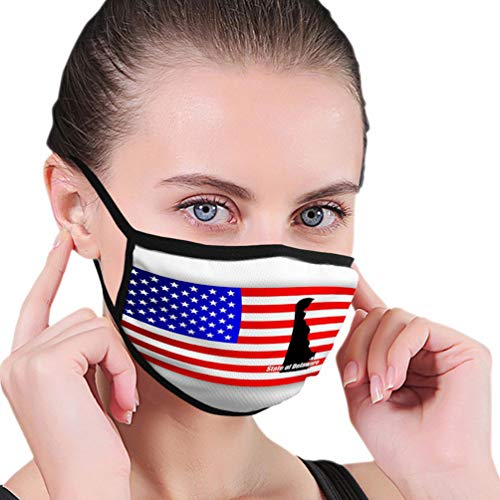 Fashion Printed Mouth Shield For Adult Kids state delaware map u s Face Shield