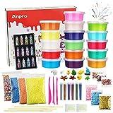 Anpro 16 Colores DIY Slime Kit,46 Accesorios,Kit Manualidades para Adultos y Niños,...