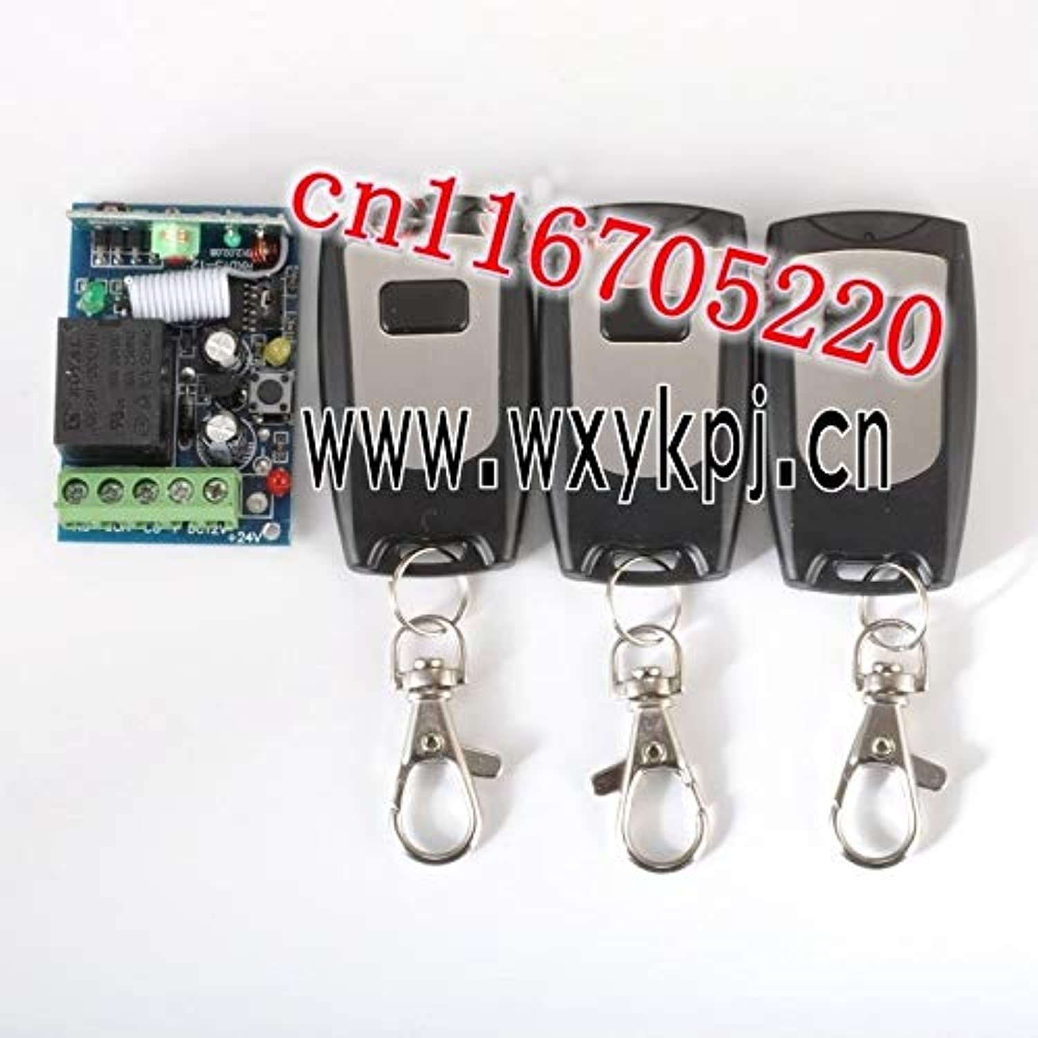 DC 12V 10A 1 Wireless Remote Switch System with 3 Controller Wireless Receiver&3Transmitter 12V 1 Channel 10A Learning Code