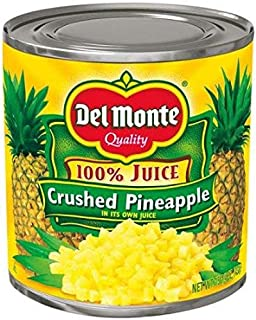 Del Monte Crushed Pineapple in 100% Juice, 15.25 oz each can (6 cans)