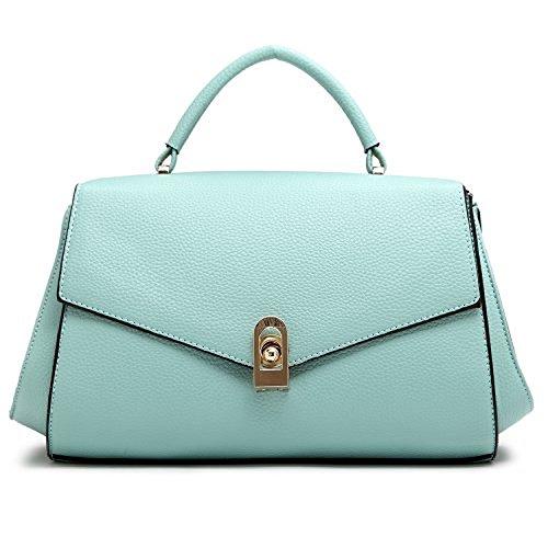 YSW European and American fashion handbags leather bags Light Green 32CM12CM20CM
