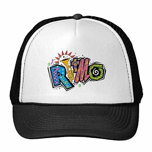 DIYthinker Gorra de béisbol México Cultura Elment Muchos Colores Ritmo Lema Gorros Nylon con Malla Sombrero Fresco Casquillo Ajustable niños