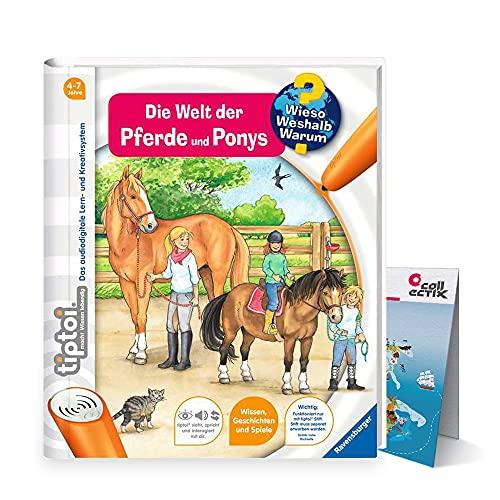 Ravensburger tiptoi Buch Band 13 | Die Welt der Pferde und Ponys + Kinder Weltkarte - Länder, Tiere, Kontinente