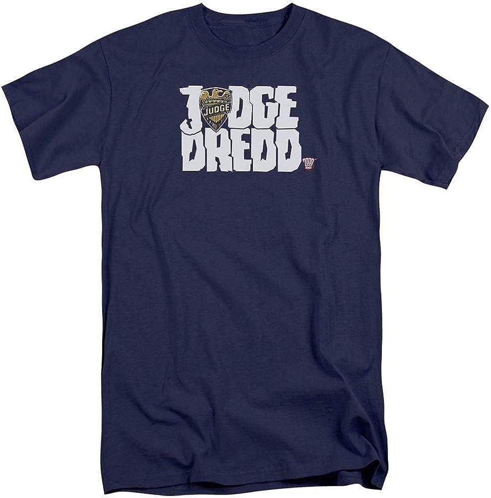 Judge Dredd Logo Adult Tall Fit T-Shirt