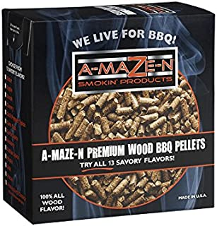 A-MAZE-N - 100% Oak BBQ Pellets - Smoker Pellets - Grilling - 2 lb