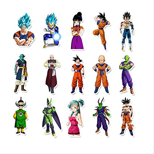 WH MaiYY 50 Impermeable Transferible Anime Japonés Dragon Ball Sticker Equipaje Maleta Skateboard Notebook Doodle Sticker