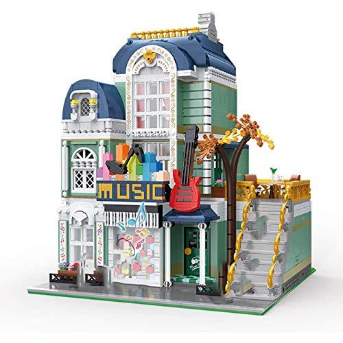 Juegos De Construcción De Casas Modulares, Modelo De Tienda De Música para Construcciones, Juego De Construcción De 3005 Piezas Compatible con Lego, El Modelo De Construcción No Es Creado por Lego