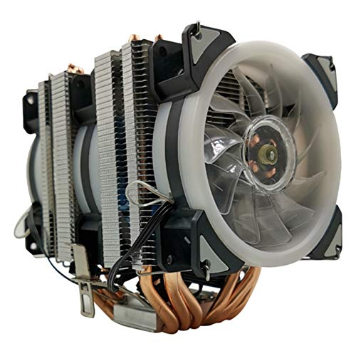 Ventilador de enfriamiento de alto rendimiento Heat Pipe CPU Cooler 6 de cobre puro de la torre de enfriamiento Sistema CPU 9 cm ventilador de refrigeración de la CPU de refrigeración del radiador