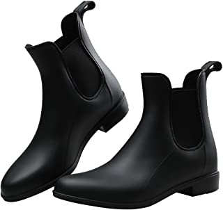 Women Rain Boots Waterproof Ankle Garden Shoes Non-Slip Short Chelsea Booties