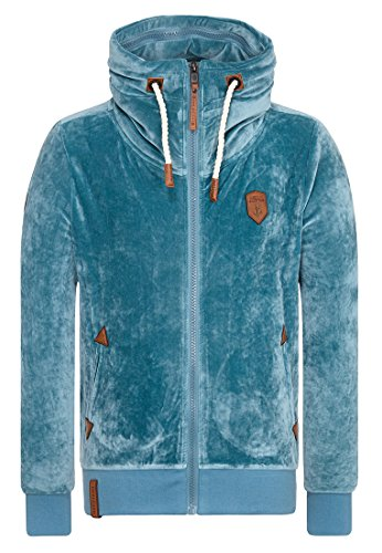 Naketano Male Zipped Jacket Ivic Mack Dusty Blue, L
