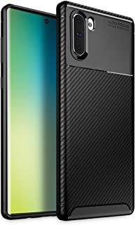 Olixar for Samsung Galaxy Note 10 Carbon Fiber Case - Slim TPU Cover - Thin Protective Cover - Shock and Drop Protection - Enhanced Grip - Wireless Charging Compatible - Black