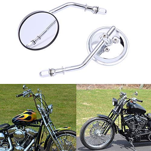 M8 8mm Clásico Retrovisor moto Espejos retrovisores redondos de motocicleta para XL883 1200 48 Forty Eight Fatboy Softtail Dyna Street Glide