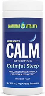 Natural Vitality Natural Calm Specifics CALMFUL SLEEP (Mixed Berry Flavor) 6 ounces
