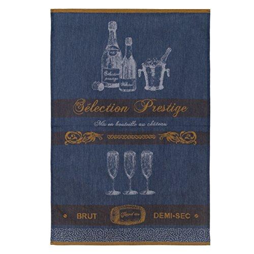 Coucke TNO-220-7094101-000-CKE Torchon Jacquard Selection Prestige, Coton, Gris, 50 x 75 cm