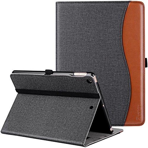 Ztotop iPad 9.7 ケース(第6/5世代)iPad Air2/Air対応 ペンシル収納 オートスリープ機能(デニム、黒)