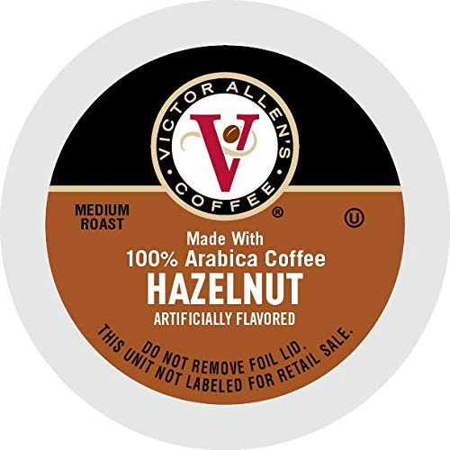 Save on Victor Allen's Coffee Hazelnut Blend, Flavored Medium Roast, 80 Count Single Serve Coffee Pods for Keurig K-Cup Brewers and more