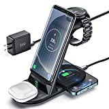 Wireless Charger, ZHIKE 4 in 1 10W Fast Charging Qi-Certified, Compatible with iPhone 11 Series/XS/XR/X/ 8/8 Plus, Huawei, Samsung S10/ S10+, Airpods, Galaxy Watches and Buds (Not for Apple Watch)