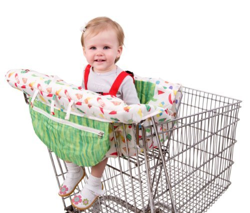 Eric Carle Shopping Cart Cover, Baby Cart Cover, Polyester, Adjustible Safety Straps, Multicolored by Eric Carle