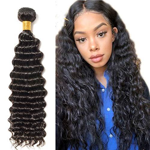 Silk-co Tissage Naturel Cheveux Humain Deep Wave Tissage Bresilien Mèche Brésilienne Vierge Cheveux Brazilian Hair Bundles 24 Pouces/60CM