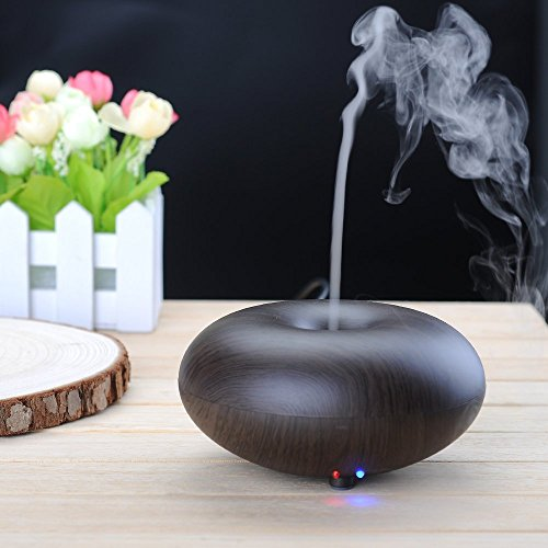 BlueFire® Electric Ultrasonic Humidifier Aroma Diffuser Essential Oils Diffuser Humidifier with Cool Mist - Ultrasonic, Aromatherapy (Dark Wood)