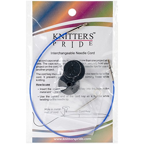Knitter's Pride Interchangeable Cords, 11' (20' w/tips), Blue