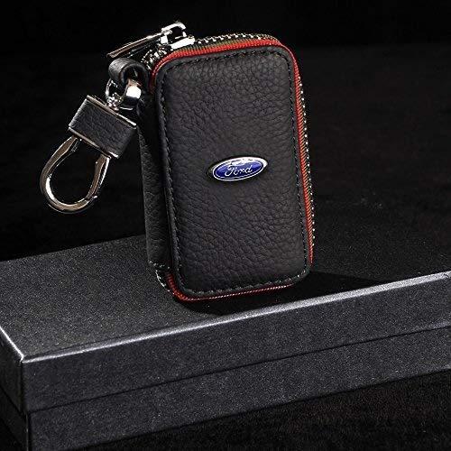 Lederen autosleutelhouder sleutelhanger sleutelhanger muntportemonnee geschikt voor Ford