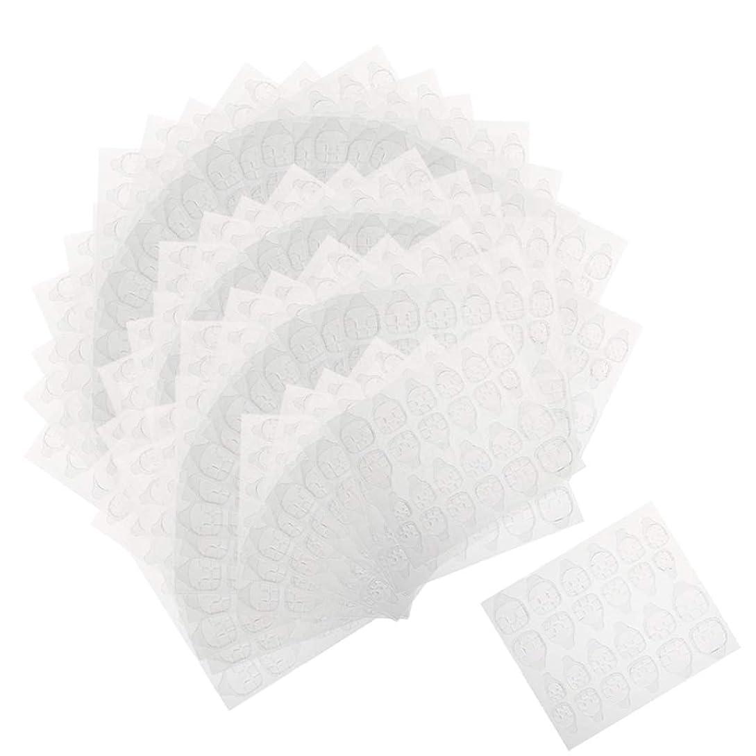化学薬品実行する彫刻家Perfeclan ネイルタブ ネイル接着剤ステッカー マニキュアタブ 両面接着 透明 両面テープ 約240ピースセット